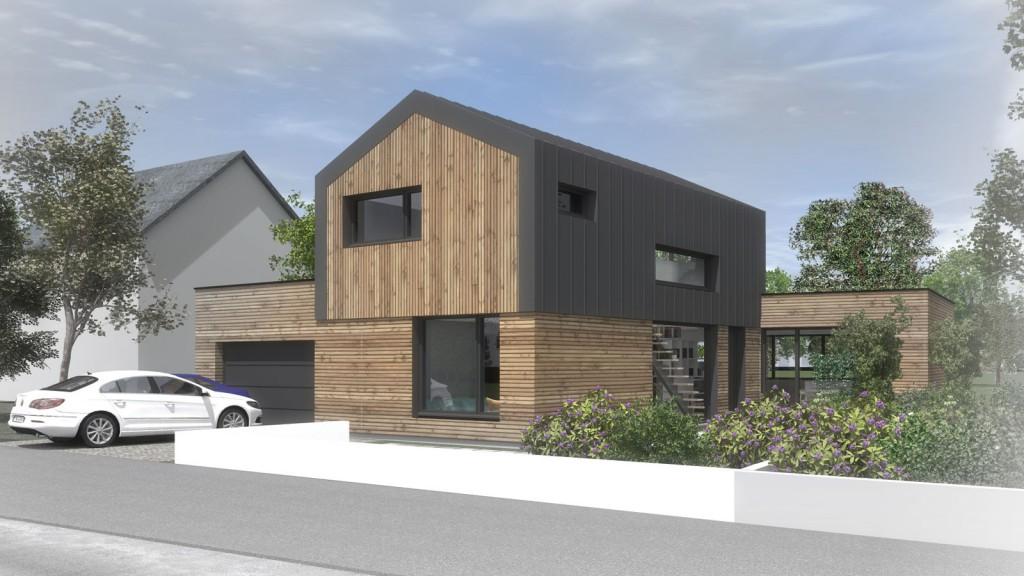 Construction d 39 une maison nantes par atelier 14 for Construction maison 3d nantes