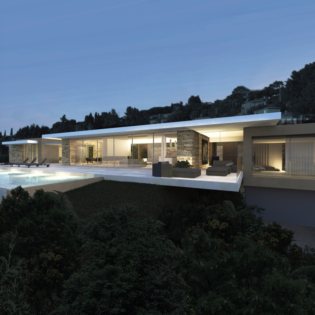 Villa e villa contemporaine dans le var par jy arrivetz for Villa contemporaine moderne design