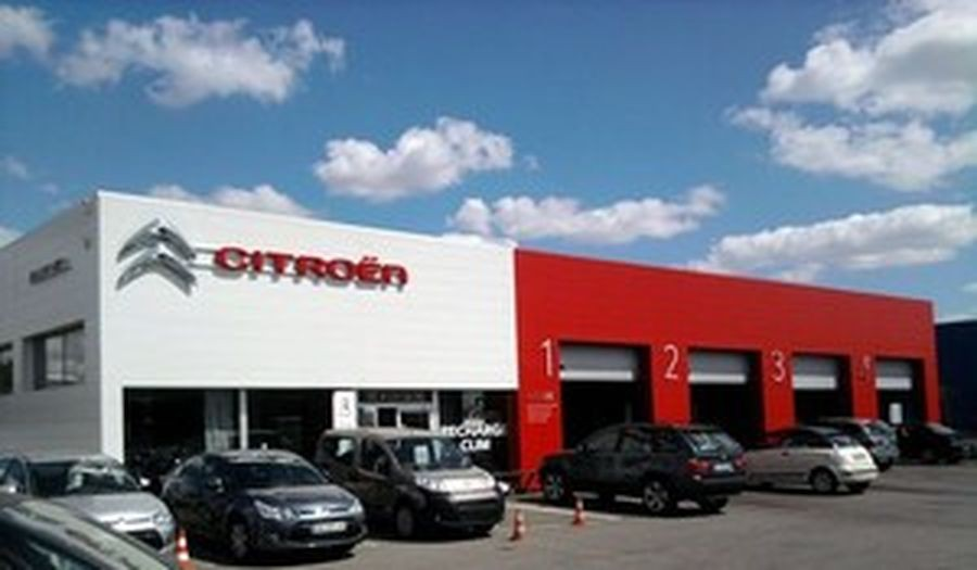 Garage citro n par leblanc archiliste for Garage citroen bourg de peage