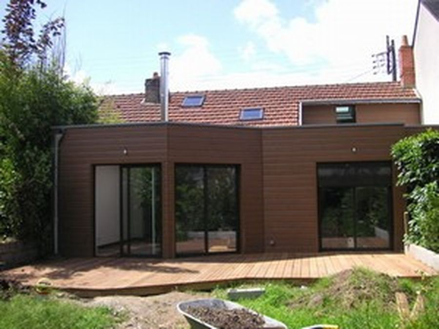 Extension et r novation d 39 une maison de ville nantes par pointiere - Extension d une maison ...