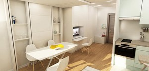 Am nagement d 39 un studio issy les moulineaux par agence for Studio amenagement interieur